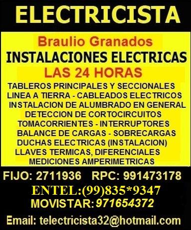 Ab electricista a domicilio profesional las 24hrs lima - Electricista a domicilio ...